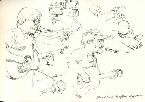 Norman Blake & Joe Pernice at the Spiegeltent, Festival of Sydney - artline pen