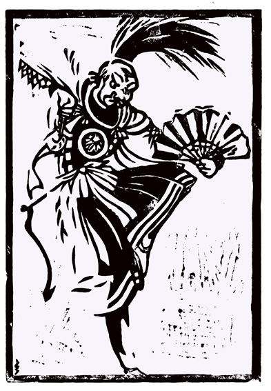 What my picture would look like printed as a linocut