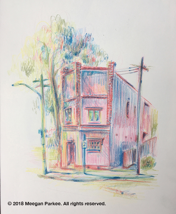 Colour_pencil_on_location_Canterbury_1