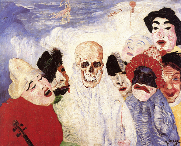 james ensor death and the masks musee de beaux art liege